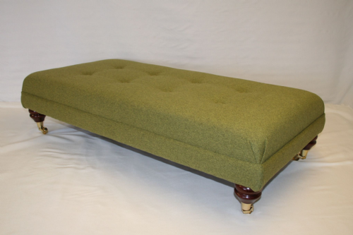 hand Made Bespoke Footstool - Wool Effect - Woodland